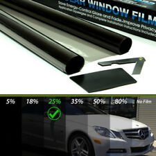 Coche Tintado Película De Teñido Oscuro Humo Negro 25% 50x300 Nuevo