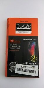 Spigen Tempered Glass Screen Protector 2 pack for iPhone X