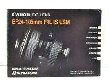 Canon Lens EF24-105mm F4L IS USM Instruction Manual User Guide VGC (346)