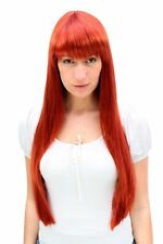 Perruque pour Femme Cuivre Sündhaft Rouge Long Lisse Frange Femmes Perruque 3227