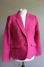 Talbots 4 Pink Shetland Aberdeen Wool Blend Blazer Suit Jacket