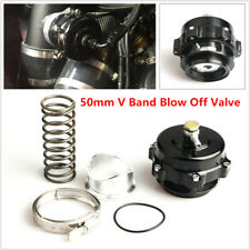 V Band Blow Off Valve BOV Q Typer With 50mm Diameter Weld On Aluminum Flange Kit