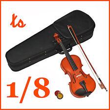 1/8 Kinder Violine Geige für ca. 4 - 6 Jahre Set mit Koffer Kolofonium Bogen NEU