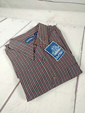 New With Tags Puritan Men's Striped Long Sleeve Button Down L (A30)