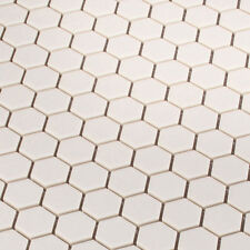 Hexágono Blanco Azulejos Mosaico Mosaicos 2,3 X 2,6 Cm Gres Unglasiert