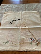 Vintage embroidered pillow cover