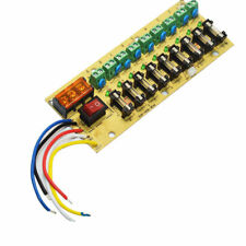 12V DC power distribution 9-way PCB board terminal block for power supply