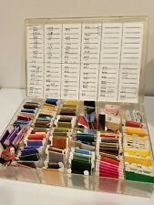 Embroidery Thread Lot with Case