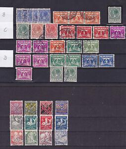 Nederland/Holland: nice old coil stamps – Look at scan!!!