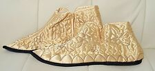 Vintage ladies yellow satin slippers Made in Japan Japanese shoes 6-7 1/2
