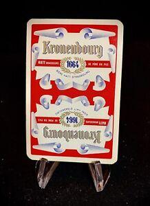 KRONENBOURG 1664 BEER - VINTAGE PLAYING CARDS (Full Deck)