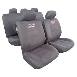 For Ford Ranger Seat Covers Waterproof Canvas Charcoal Full Set Airbag Safe