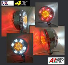 4x LED RED WHITE AMBER ORANGE SIDE CHROME MARKER LIGHTS INDICATOR TRUCK TRAILER