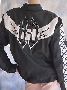 Womens HARLEY DAVIDSON Sz 2W Moto Riding Jacket w/ Body Armor Rugged Plus Sizing