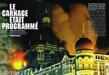 Coupure de Presse Clipping 2008 (12 pages) Attentat Hotel taj mahal Bombay