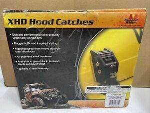 Rugged Ridge 11210.18 XHD Aluminum Hood Catch Fits 97-06 TJ Wrangler