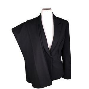 TAHARI PC Black Mismatched Polyester Rayon Blend Pant (Size 10) Suit (Size 12)