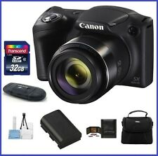 Canon PowerShot SX420 IS Digital Camera 32GB Bundle (Black)- Authorized Dealer