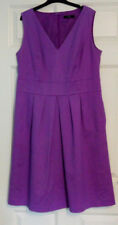 Marks and Spencer Ladies Sleeveless Purple Chord Style Shift Dress UK Size 16