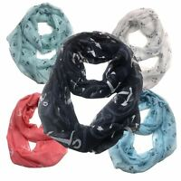 Infinity Scarf Top Fashionland Premium Soft Nautical Sheer Infinity Scarf
