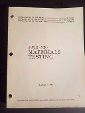 Fm Field Manual 5-530 Materiales Pruebas Agosto 1987