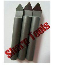 2PC/Set 6MM*90°*0.4mm Polycrystalline PCD Diamond CNC router bit Granite Stone