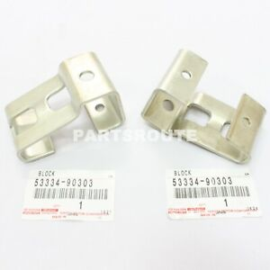 Toyota Land Cruiser FJ40 BJ40 OEM Genuine Windshield Rest Block PAIR 53334-90303