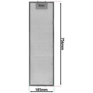 Grease Filter for ELECTROLUX Cooker Hood Vent Fan 756mm x 185mm EFP90460OS