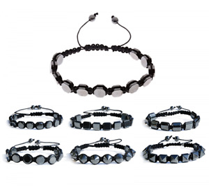 Hematite Magnetic Healings Beaded Bracelet Unisex Lose Weight Bangle Jewelry
