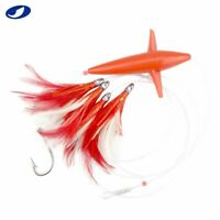 "5 Pcs/Set 5"" Daisy Chain Feather Saltwater Fishing Trolling Lures Bait Tuna Mahi"