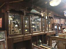 Antique Victorian Back Bar Walnut/Pine Mirrored Bar Ornate Bar Vintage Backbar