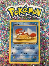 ⭐️ Krabby Fossil Set Pokemon Card Wizards WotC Game Freak Nintendo 1999 🎏