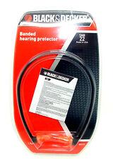 Black & Decker Banded Ear Plugs / Hearing Protectors x 1 Pair - Boxed
