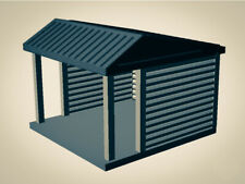 """""""The Outdoor Series""""  Small Shelter - Camping Modeled in Color  OO Scale 1:76 3D"""