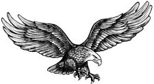 Flying Eagle 2 Temporary Fake Tattoos Waterpoof Freedom Power Body Art Transfer