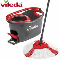 Vileda Easy Wring & Clean Turbo Spin Mop & Bucket Cleaning System Floor Cleaner