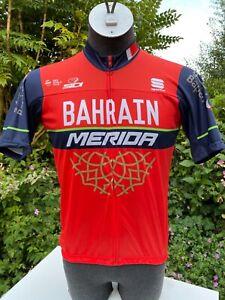 Bahrain Merida 2017 Short sleeved Polyester Cycling Jersey Full zip XXL ?