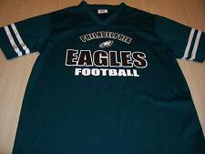 NFL TEAM APPAREL PHILADELPHIA EAGLES GREEN JERSEY BOYS LARGE 14-16 EXCELLENT