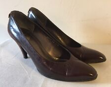 Christian Dior Brown Leather Court Heels US 8.5B
