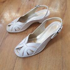 Rohde Sandals Heels Wedges Slingbacks Summer Leather Upper UK 6.5