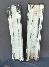 Lot of Antique Tin Ceiling Boarder Trim White Leaf Old Architectural 1205-20B