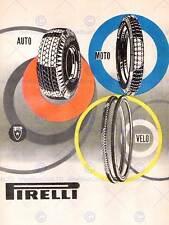 ADVERT TIRE WHEEL TYRE PIRELLI AUTO MOTO VELO 30X40 CM ART PRINT POSTER BB7131
