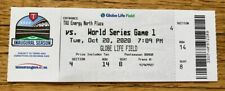 FULL MINT AUTHENTIC TICKET 2020 WORLD SERIES GAME 1 *BOX OFFICE ISSUED*