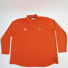 Miami Hurricanes adidas Aeroready Pullover Men's Orange New without Tags