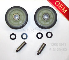 OEM FACTORY DRYER PARTS 2 ROLLERS 2 SHAFTS MAYTAG ADMIRAL CROSLEY (SEE MODELS)