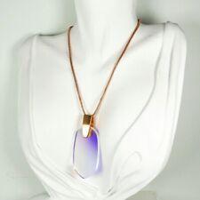 Kendra Scott Inez Dichroic Glass Pendant Rose Gold Necklace New NWT $90