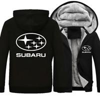 Warm Thicken SUBARU Hoodie Jacket Cosplay Sweater fleece coat Team off road