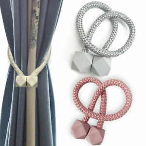 2pcs - Strong Magnetic Curtain Tie Backs Buckle Clips Holdbacks Curtain Tie Rope