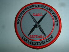 Carl Cestari EMBROIDERED PATCH  Made in USA  Martial Arts Karate Judo MMA