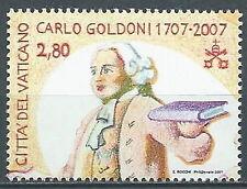 2007 VATICANO GOLDONI DA FOGLIETTO MNH ** - ED